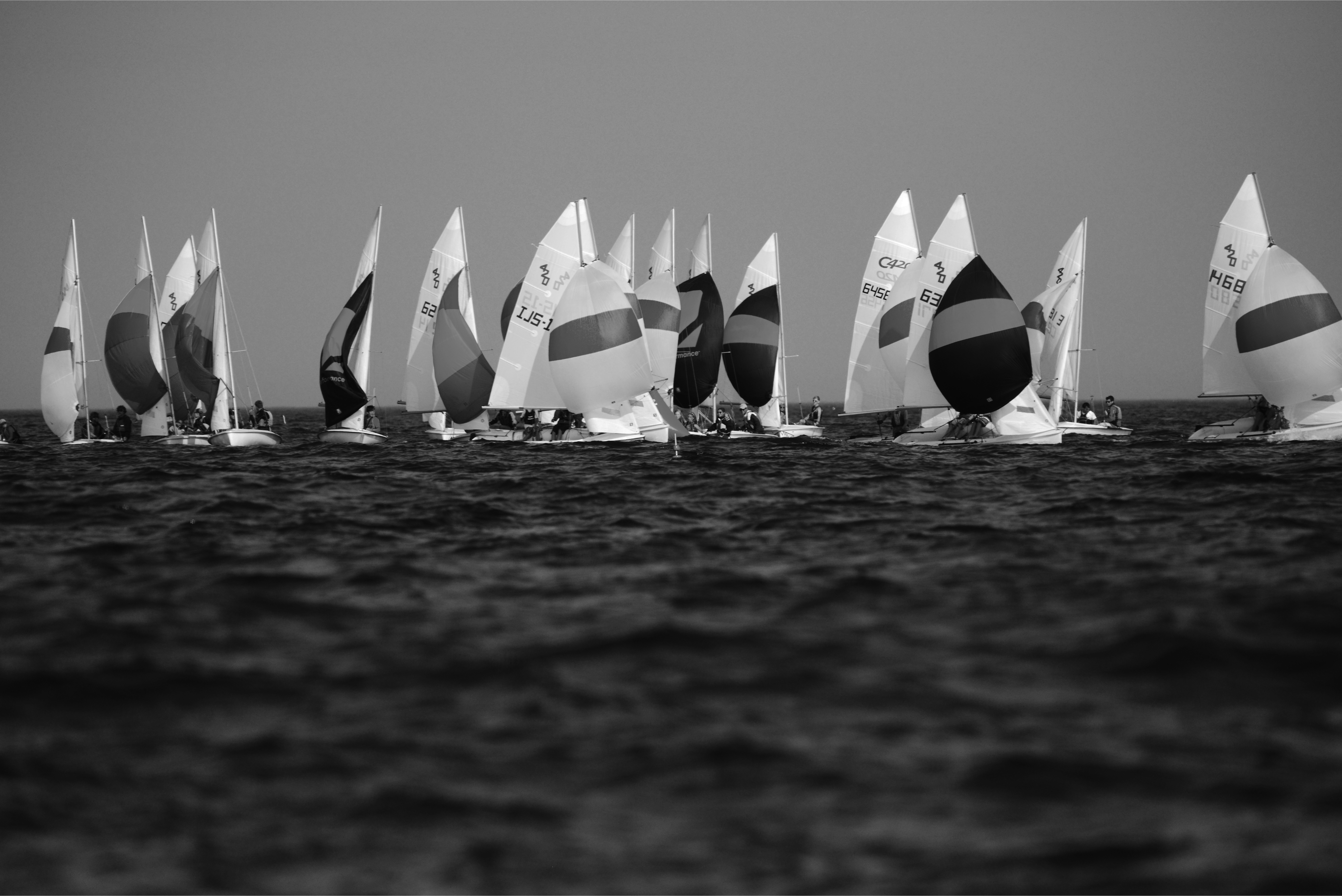 downwind black and white