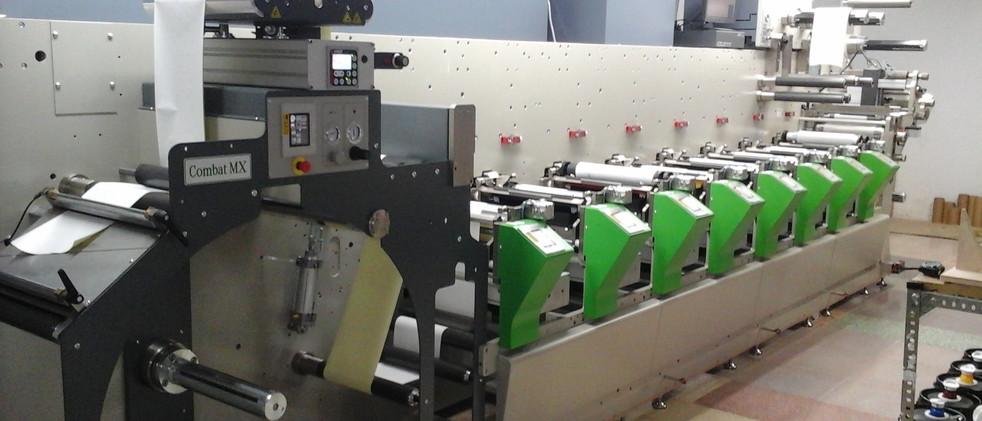 Maquinaria rotativa par impresión y troquel