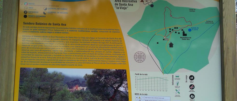 Sendero botánico de Santa Ana del Monte