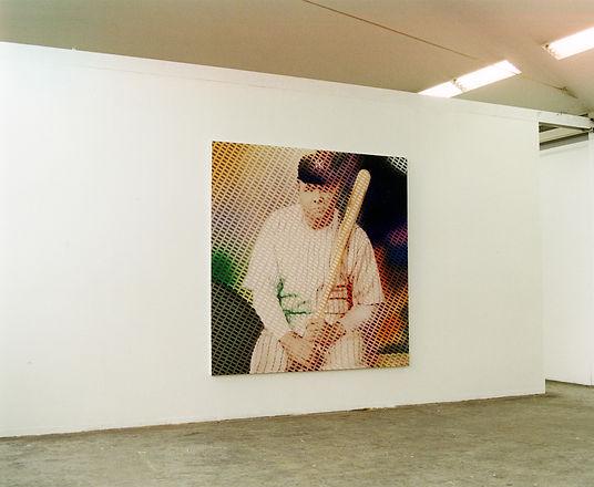 ベーブルース 2.5mのパネルにベーブルースを特殊な技法で描画しました。(美術作品として)