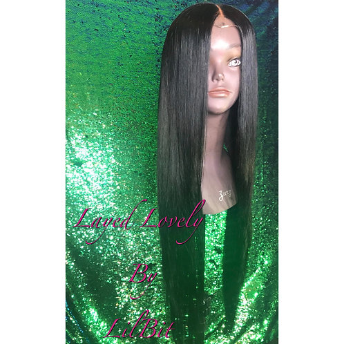 """""""Kayla"""" Brazilian Straight/Body Wave Lace Closure Wig"""