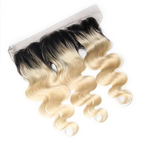 613 DR/1B Platinum Blonde Body Wave Frontal
