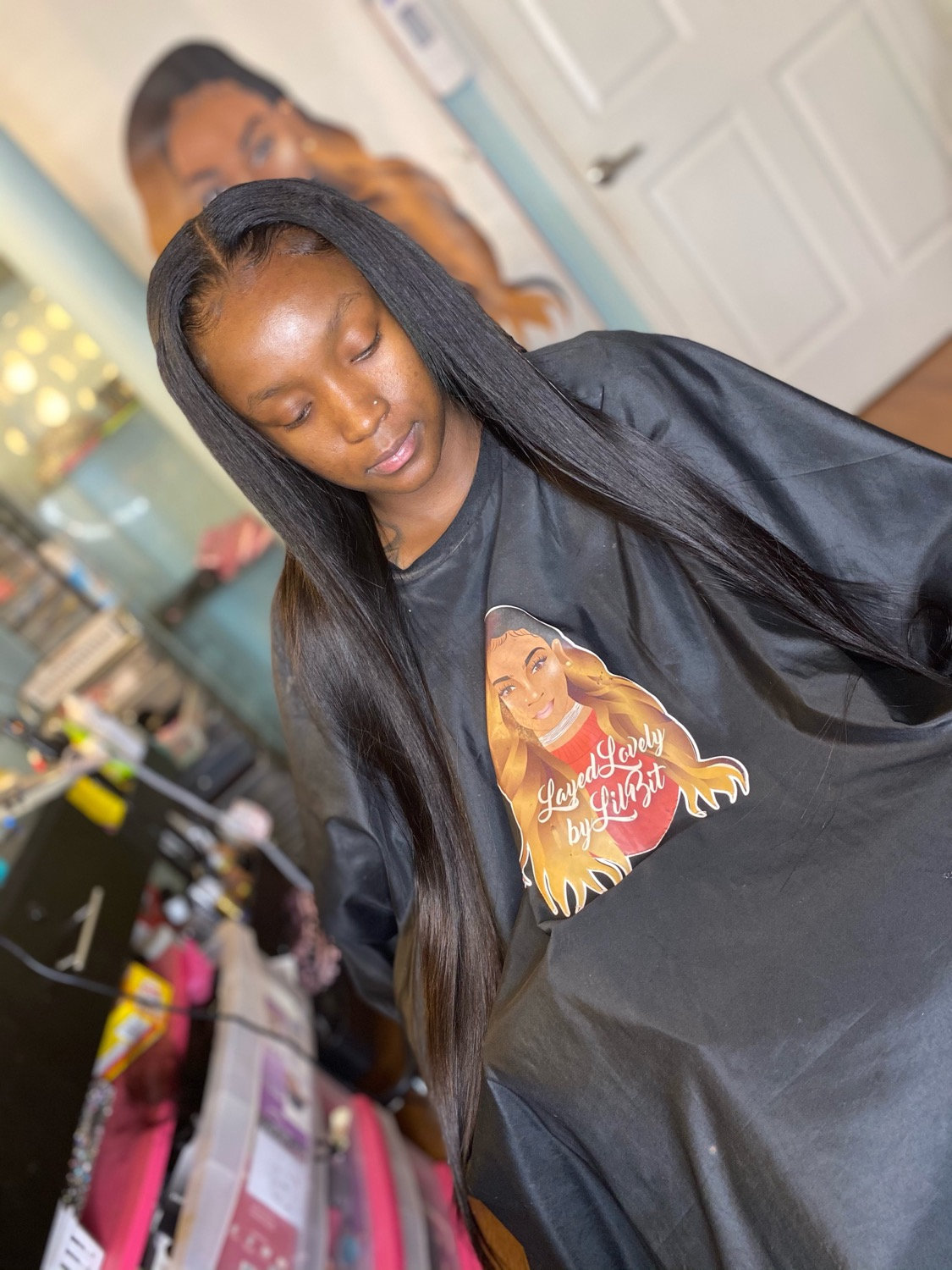 Traditional Middle Part Sew-In