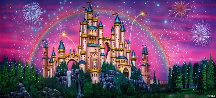 Fairy Tale Castle Backdrop