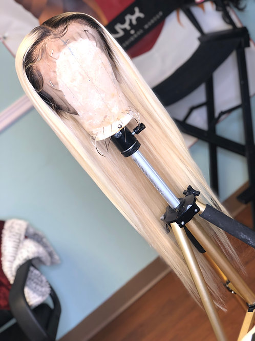 """Chloe"" Custom Made Blonde Lace Frontal Wig"