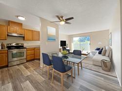1BD Kitchen, Dining & Living room_After.