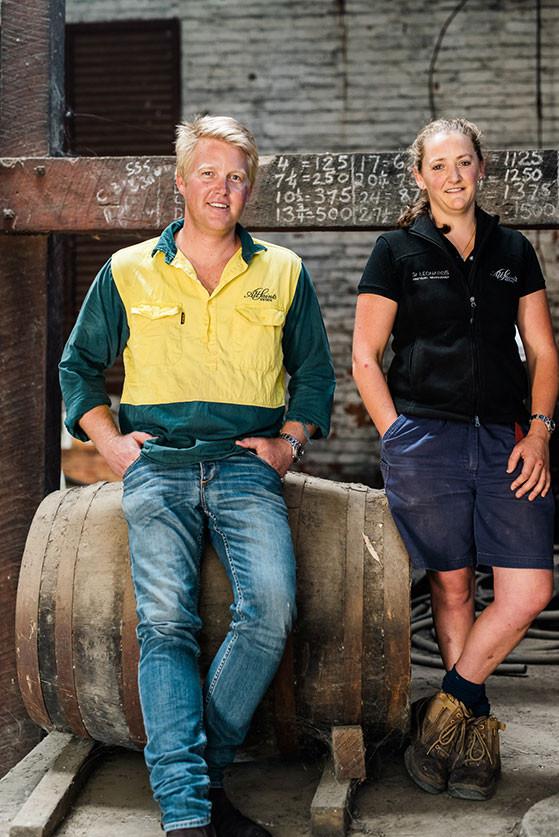 Nick Brown and Chloe Earl, Winemakers.