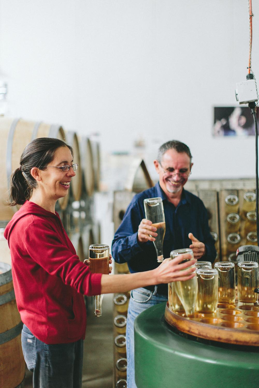 Christobelle and Howard Anderson, winemakers.