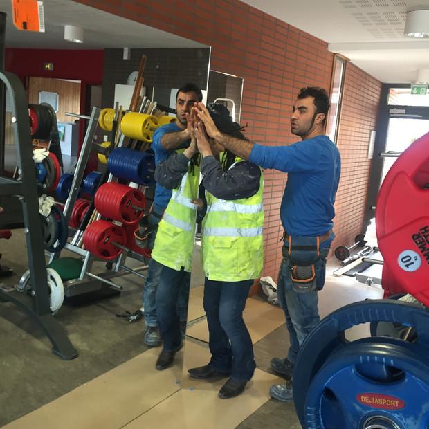 Décoration salle de fitness