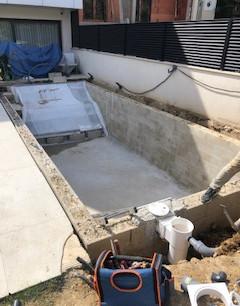 Construction d'une piscine en dur