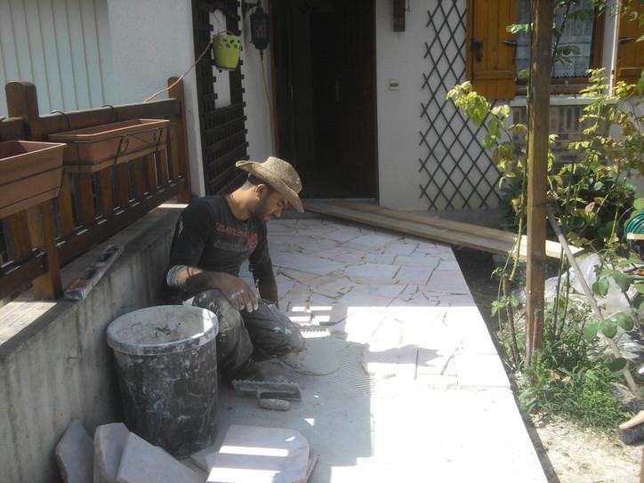 Rénovation d'une allée en pierre