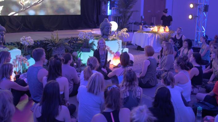Shanine Dennill hosting a workshop at YogaFest Equinox III