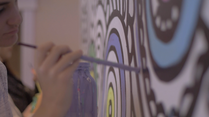 Interactive Murals at YogaFest by Alexandria Harding-Costa