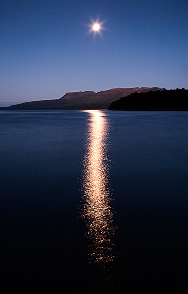 Full moon, Lake Tarawera