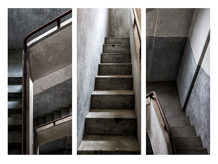 The Stairs - Triptych