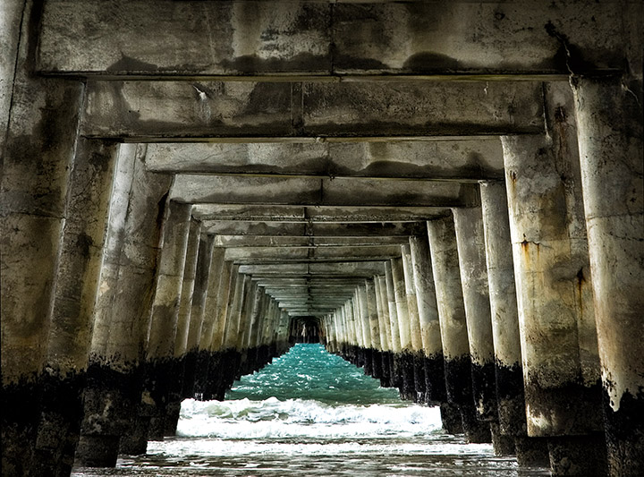 Under Tologa Bay Wharf
