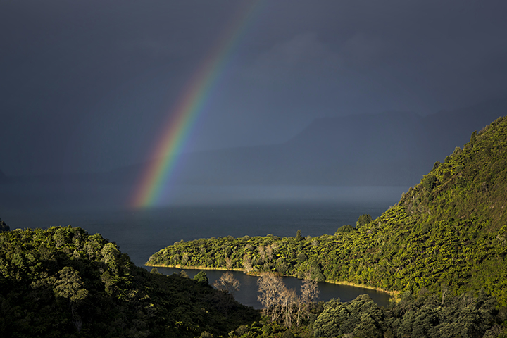 Rainbow over Tarawera