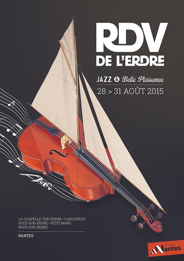Affiche abribus rdv erdre 2015 violoncelle voilier jazz