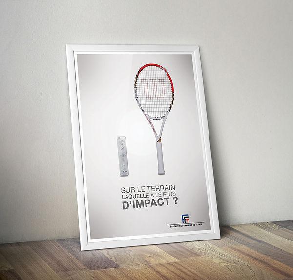 FFT tennis wiimote raquette affiche