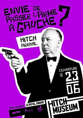 Hitch Museum Hitchcock musée affiche envie de passer l'arme à gauche ?