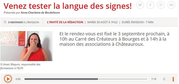 langue des signes RCF
