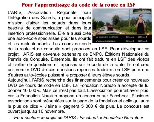code de la route LSF