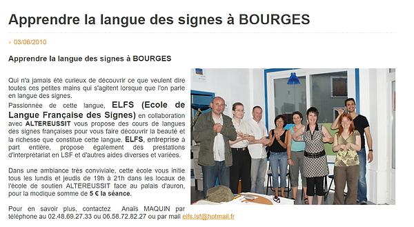 Apprendre la langue des signes ELFS infoptimum