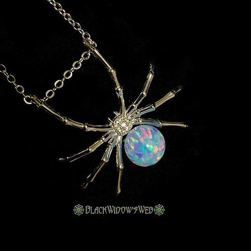 Blue Divine Widow, Sterling Silver Necklace