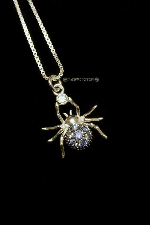 Spider Tanzanite Sterling Silver Necklace