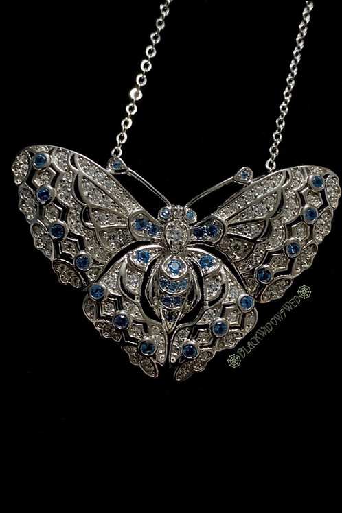 Sky Butterfly Sterling Silver Necklace and Pin.