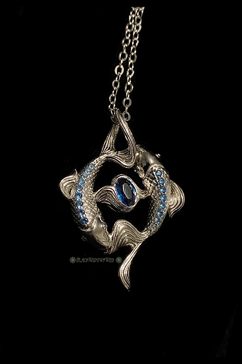 Pisces Aquamarin  Sterling Silver Necklace