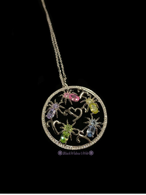 I Love Spiders Sterling Silver Medallion