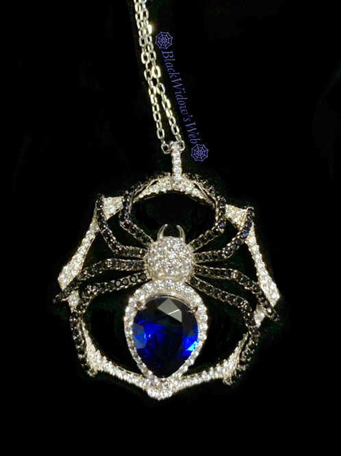 Blue Beauty Spider Necklace