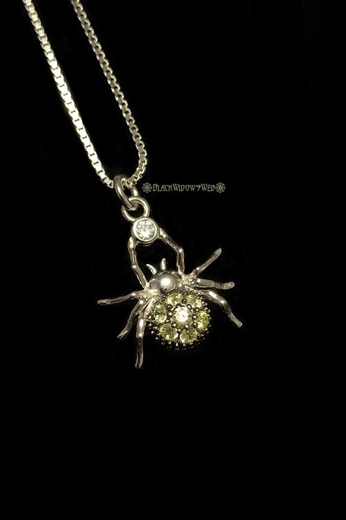 Spider Citrine Sterling Silver Necklace