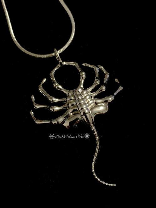 Alien Facehugger Sterling Silver Necklace