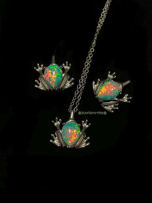Froglet, Fire Opal, Necklace Only