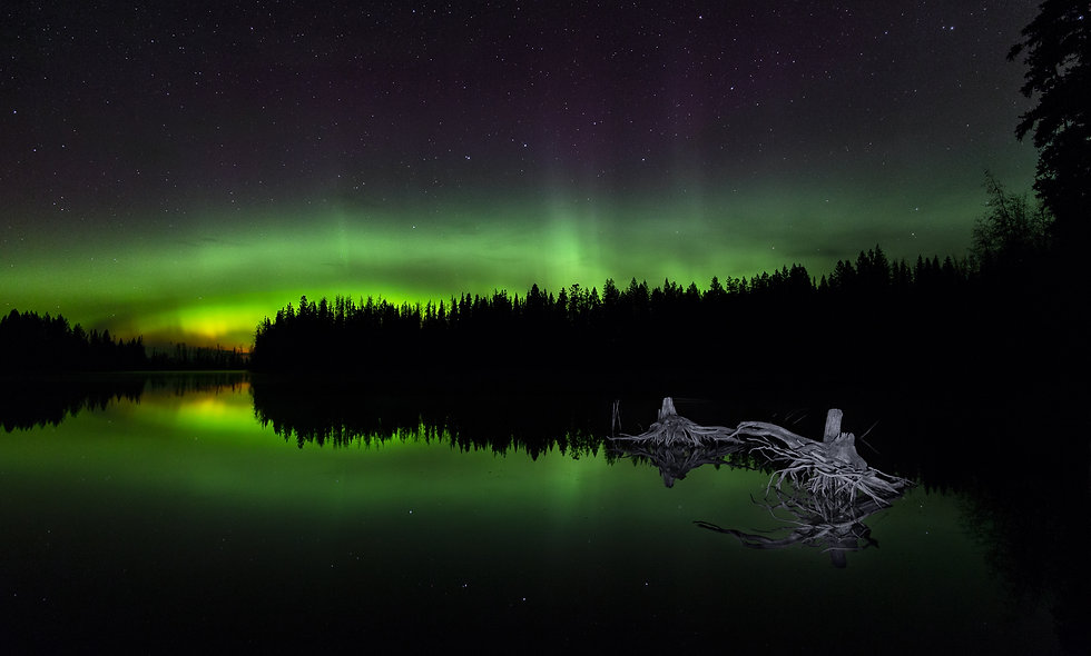 Badger lake aurora.