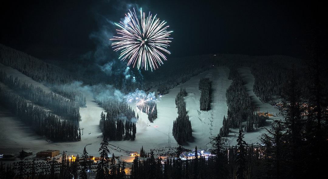 New years eve at Sun Peaks resort. Phone or Desktop background.