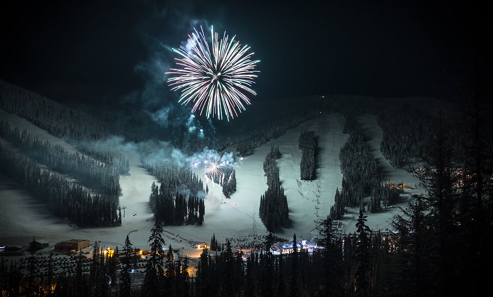 New years eve at Sun Peaks..