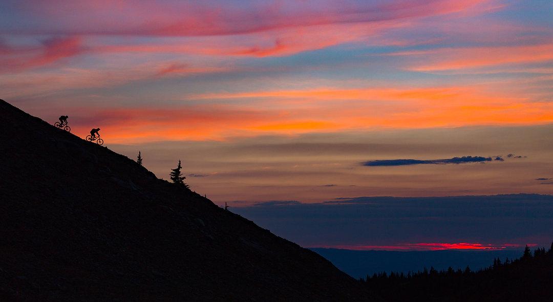MTB sunset. Phone or Desktop background.