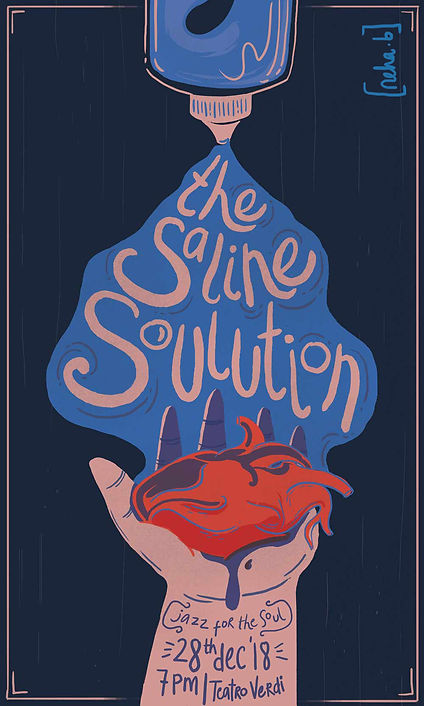 band poster saline solution