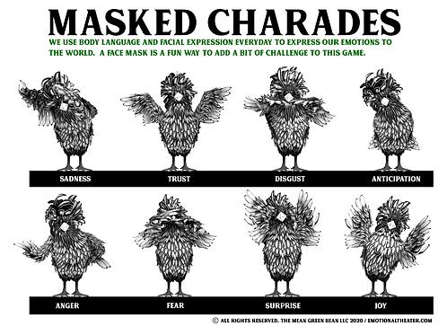 MASKED CHARADES GAME - PRINTABLE PDF