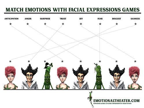 FACIAL EXPRESSIONS MATCH GAME - 3pk PRINTABLE PDF