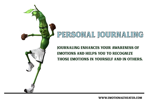 8 BASIC EMOTIONS PERSONAL JOURNAL PRINTABLE PDF- THE MEAN GREEN BEAN