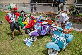 Vespa display - Michele Di Leva with the