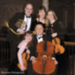 French horn and string quartet