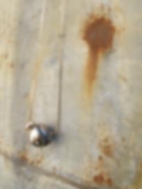 collana girocollo con boule in ceramica raku smaltata argento antico