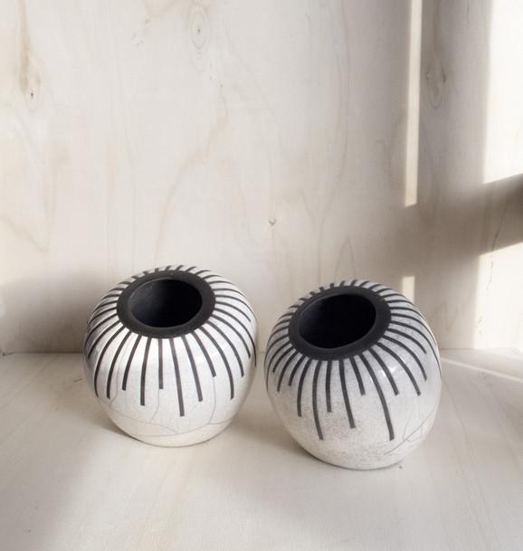 Strip & Dots vases