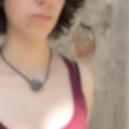 collana girocollo con boule in ceramica raku