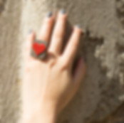 anello in ceramica raku